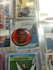 1956 Topps Baseball Pin Coin Button Pinback Jackie Robinson Brooklyn Dodgers