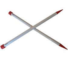 1 Paire d' AIGUILLES à TRICOTER Taille 15 PLASTIQUE 40 cm de long REF AT15