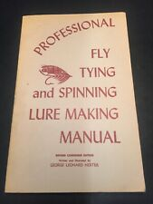 Book, Professional Fly Tying & Spinning Lire Making Manual Book 1941-1969 BS2