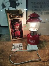 Coleman 1975 Lantern Red 200A with Globe  Camping Dated 9/75 Box Tested Works