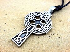 Klassisches Keltenkreuz Keltisches Amulett Schmuckzinn Anhänger inkl. Band Kette