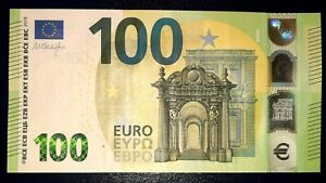 N1 ITALY 100 Euro 2019, SC-serie UNC, DRAGHI Sign, Printer S007A3