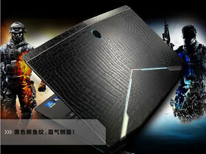 KH Laptop Carbon Leather Sticker Skin Protector for Dell Alienware 14 M14x R3