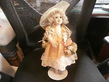 Vintage porcelain doll Paradise Galleries Jennifer by Patrica Rose w/ stand