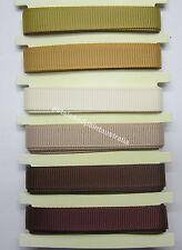 6 Assorted Ribbons Brown Tones Scrapbooking, Card  & Craft Embellishment BNIP