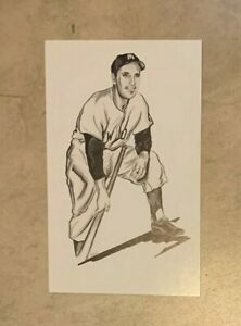 Phil Rizzuto New York Yankees Postcard 1989 Ted Williams Thumper Litho Baseball