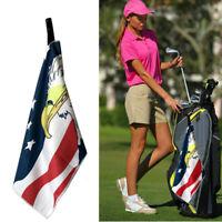"Golf Club Towel Microfiber Jacquard 14"" x 42""  With Hook Callaway Titleist New"