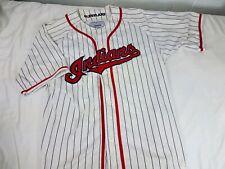 Cleveland Indians Starter Brand Jersey White Cotton Blend Medium Striped