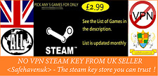 Pick Your 5 Steam Key for 2.99 New Games keep coming Regionfree NO VPN UK seller