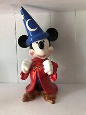 Vtg Disney Fantasia Sorcerer Apprentice Mickey Mouse Music Box Figurine