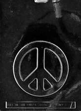 Large Peace Sign Chocolate, Soap or Plaster Mold  - M137