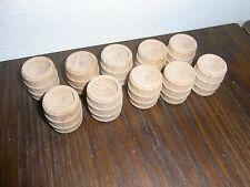 10 kleine Holzfässer für Kaufläden etc oben geschlossen d=3cm 4cm hoch