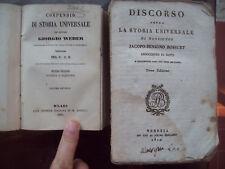 1819 LOTTO DI DUE LIBRI SULLA STORIA UNIVERSALE. BOSSUET E WEBER