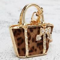 Bag Handbags Keyring Rhinestone Crystal Charm Pendant KeyChain Gift Lin