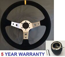 CORSICA SUEDE SPORT RACE STEERING WHEEL AND BOSS KIT HUB FIT PEUGEOT 106 SAXO SI