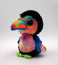"Toucan 8.5"" Beaks Ty Beanie boos Glitter eyes Plush Stuffed Animals Toy Doll"