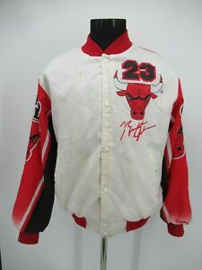 P8573 VTG Chalk Line Chicago Bulls Michael Jordan Puff Jacket Made In US Size L