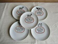 5 mal Käseteller Porzellan Porcelaine d´Auteuil  Service Bistrol france