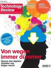 Technology Review, Heft Mai 05/2015: Von wegen immer dümmer +++ wie neu +++