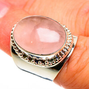 Large Rose Quartz 925 Sterling Silver Ring Size 6 Ana Co Jewelry R78518