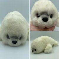 """Seal Pup White Cuddly Plush Soft Toy 14"""" By Papertree Children Adults Gift Idea"""