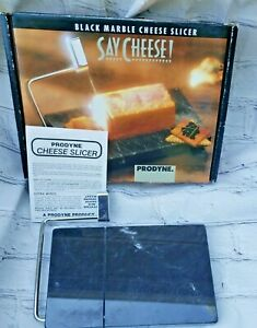 Vintage Prodyne  Marble Cheese Slicer Board Stainless Steel wire w Box USA