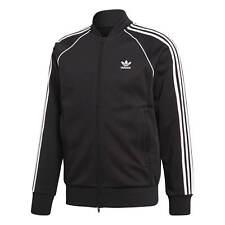Adidas Track Jacket Men's Black Superstar Tracktop Trainer Jacket Piping