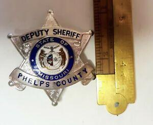 OBSOLETE PHELPS COUNTY MISSOURI DEPUTY SHERIFF 6 POINTED STAR BADGE