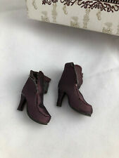 Fitting In SHOES (no laces) - Tonner Ellowyne Wilde doll fashion - pink maroon