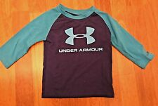 Under Armour Blue Two-Toned Long Sleeve Boys Shirt! 12 Month! Polyester/Spandex!