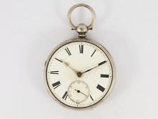 Open Face Case 925 Jw25 Antique Pocket Watch Sterling Silver