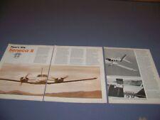 VINTAGE..1976 SENECA II..HISTORY/PHOTOS/DETAILS/SPECS...RARE! (890N)
