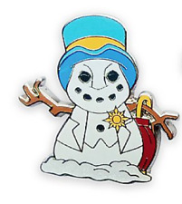 Jiminy Cricket of Pinocchio Disney Snowman Holiday Cheer Happy Holidays Pin
