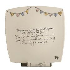 Baby Shower Gift Signature Plate Square (Bunting)