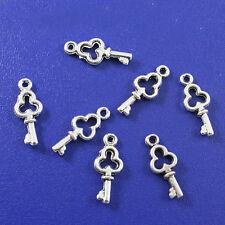 70pcs Tibetan silver Mini key charms findings h0579