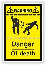 Farting Funny Sticker Death Danger Heavy Fart Gases Truck Bumper WC Toilet Car