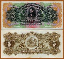 New ListingCosta Rica, 5 Colones, 1911 - 1917 P-S122r, Ch. Unc