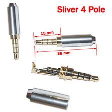 4 Pole 3.5mm Sliver Male Repair headphone Jack Plug Metal Audio Soldering Cover