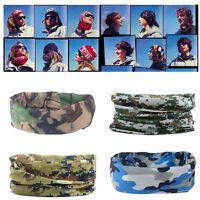 Multi-Function Camo Tube Scarf Headband Face Mask Winter Bandana Headwear New