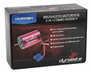 Dynamite Losi Mini T Brushless Motor ESC 2-in-1 Combo 6000Kv Mini-T 2.0 DYNS0501