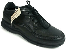 ROCKPORT Womens Black Leather Lace Up Oxfords Apron Toe Shoes Size 6.5 M   S14