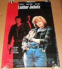 Leather Jackets Movie Poster 1992 Original Promo 39.5x26.5 Bridget Fonda