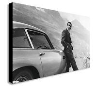 James Bond Sean Connery Aston Martin Canvas Wall Art Framed Print Various Sizes