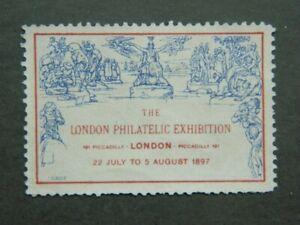 Vignette cinderella exposition philatélique Londres 1897