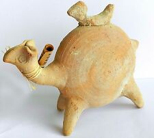 Ancient biblical Iron Age Camel Zoomorphic Roman Byzantine Pottery Clay Statue