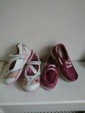 TIMBERLAND PINK SUEDE INFANT GIRLS SHOES SZ 7&CLARKS FLASHING LIGHTS SHOES SZ 7