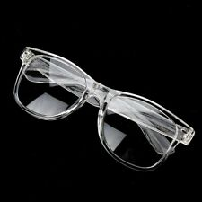 Mens Womens VINTAGE RETRO Style Clear Lens EYE GLASSES TRANSPARENT CRYSTAL FRAME
