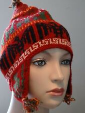 New High Quality Alpaca Chullo Hat unisex Ski Men's or Women's Peruvian
