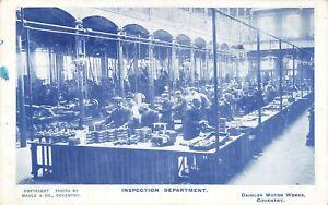 Daimler Motor Works Postcard: Inspection Department, Coventry