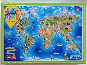 Brand New Gibsons 250XL Large Piece Jigsaw Puzzle - JIG-MAP OUR WORLD